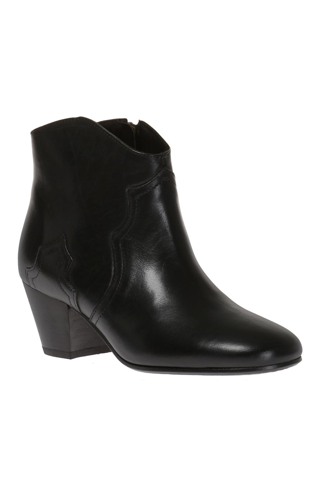 Isabel Marant 'Dicker' leather heel ankle boots