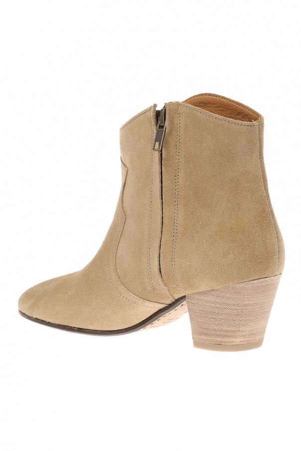 39 dicker 39 heeled ankle boots isabel marant etoile vitkac shop online. Black Bedroom Furniture Sets. Home Design Ideas