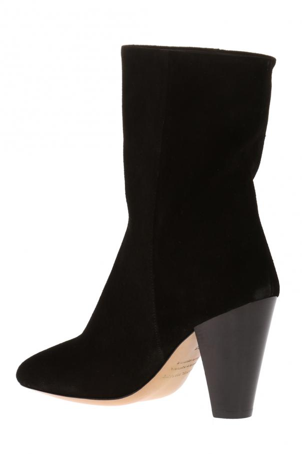 'darilay' suede heeled ankle boots od Isabel Marant