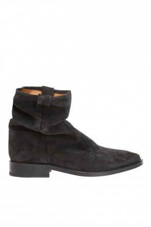 'cryston' ruffled ankle boots od Isabel Marant