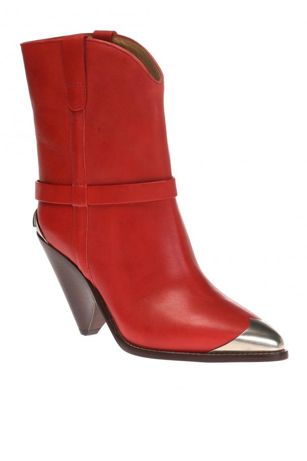 'lamsy' heeled ankle boots od Isabel Marant
