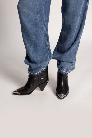 'limza' heeled cowboy boots od Isabel Marant