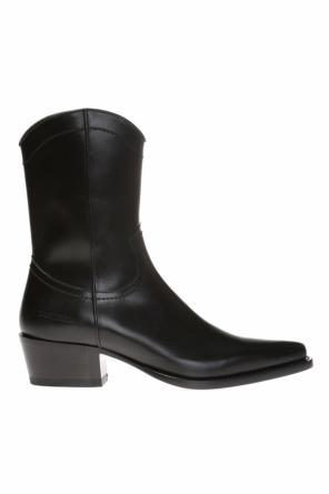 Logo-embossed ankle boots od Dsquared2