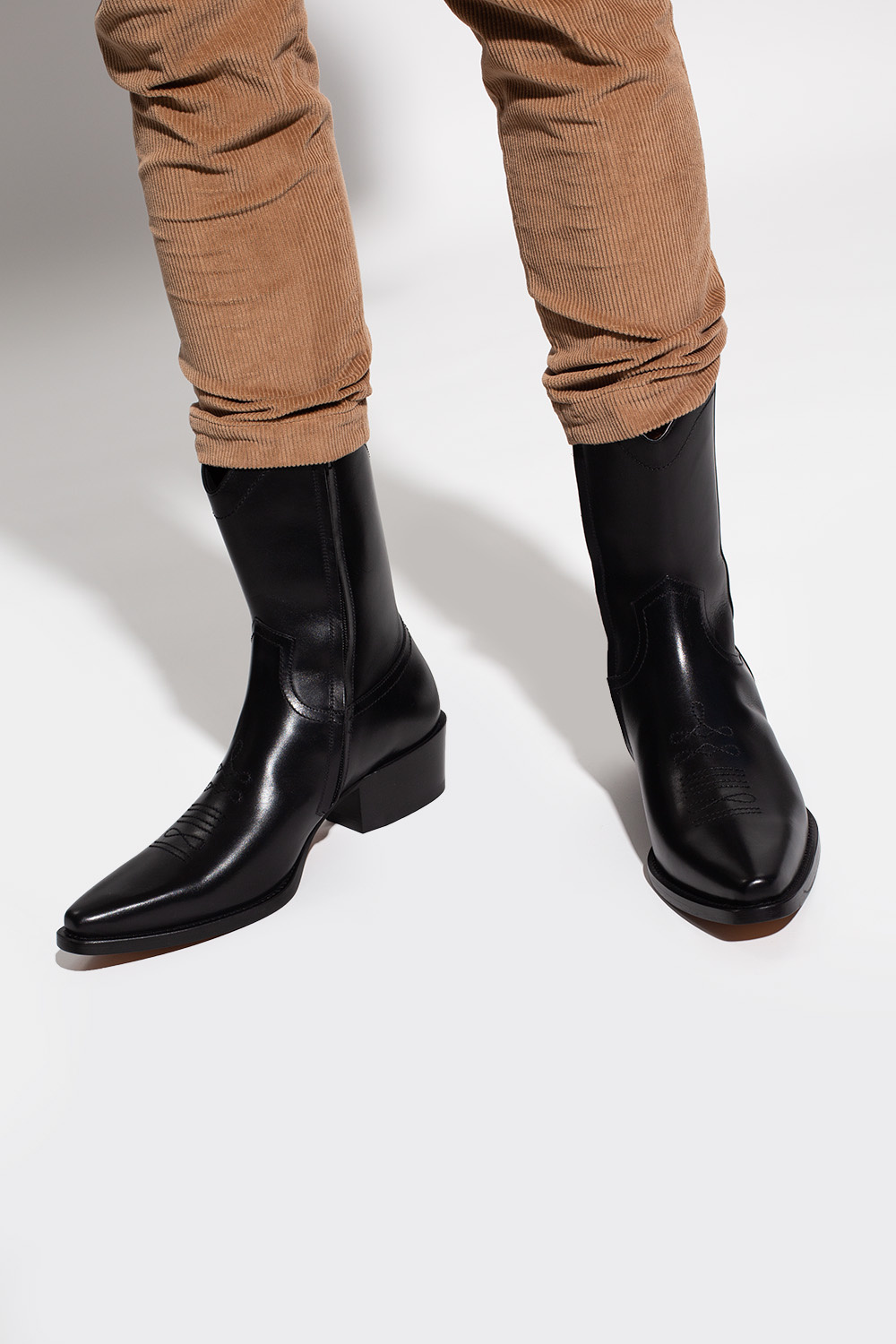 Dsquared2 'Wanderer' leather ankle boots