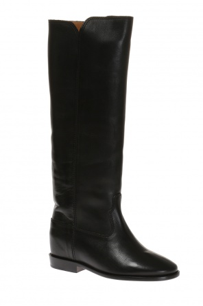 'chess' built-in wedge boots od Isabel Marant