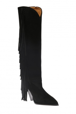 'lenston' heeled boots with fringes od Isabel Marant