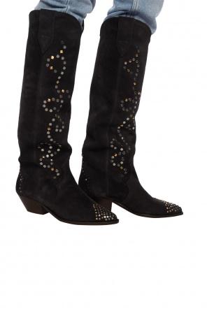 'denvee' heeled suede boots od Isabel Marant