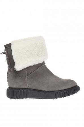 Boots with fur trimming od Moncler