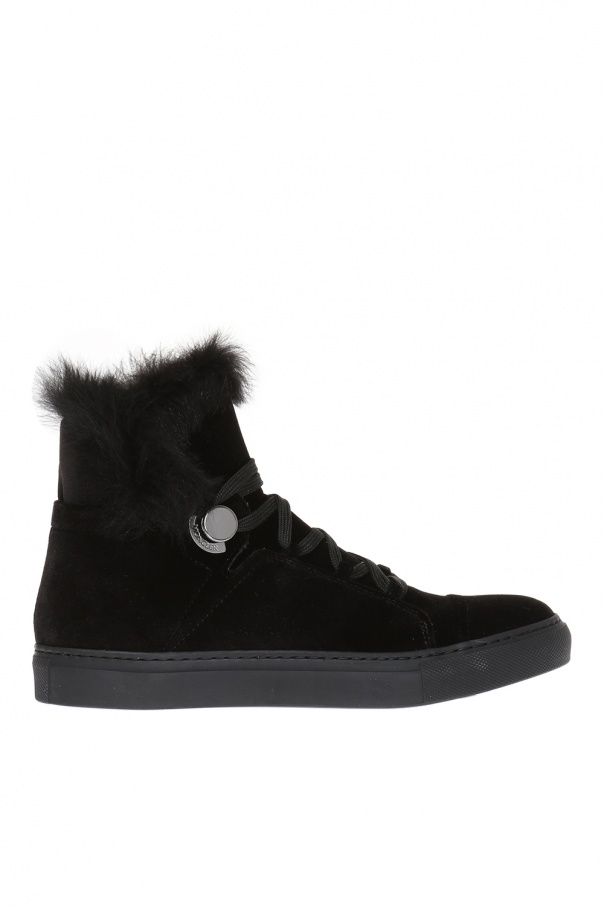High-top sneakers with fur trimming Moncler - Vitkac shop online ed73535b8fe