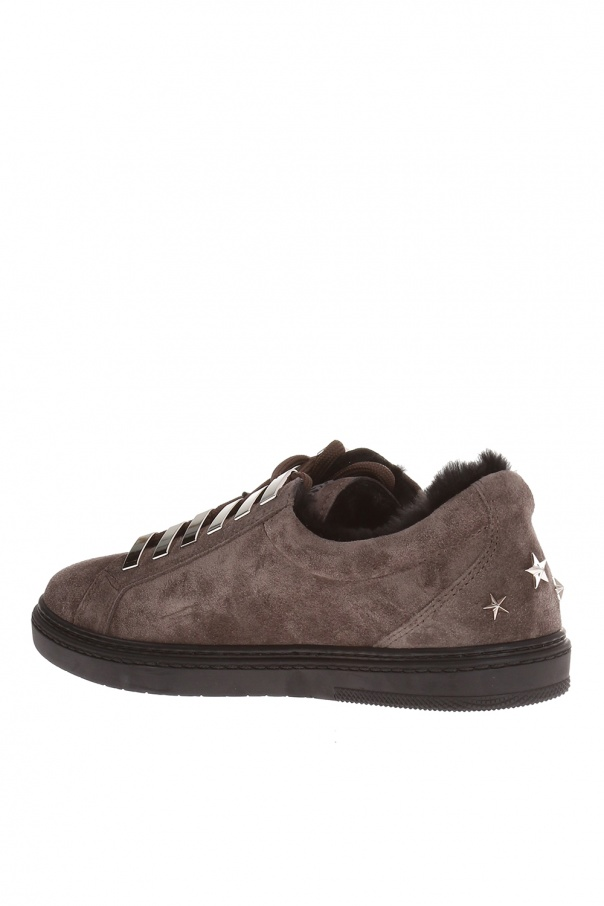 'smoke' sneakers with star motif od Jimmy Choo