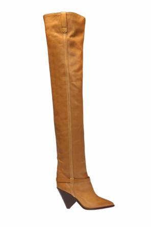 'lafsten' thigh-high heeled boots od Isabel Marant