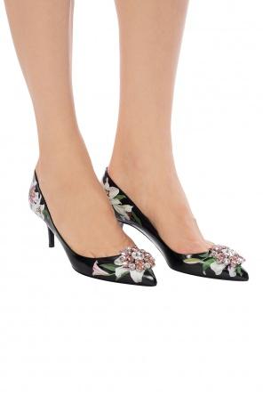 6c606741d175f Buty na obcasie z motywem kwiatowym od Dolce & Gabbana ...