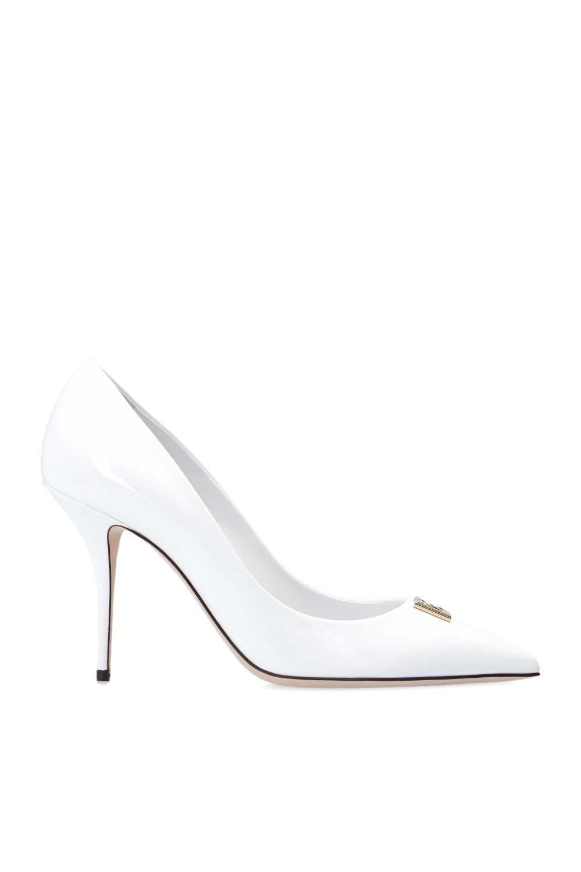 Dolce & Gabbana logo细跟鞋