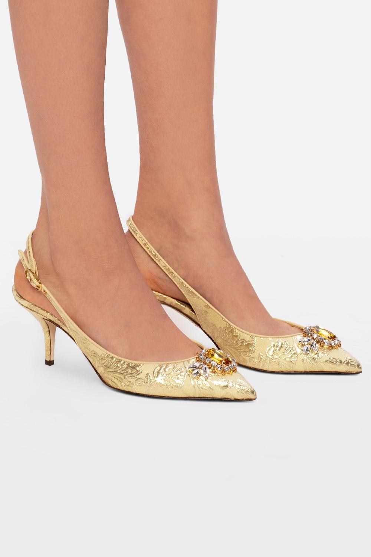 Dolce & Gabbana Appliquéd stiletto pumps