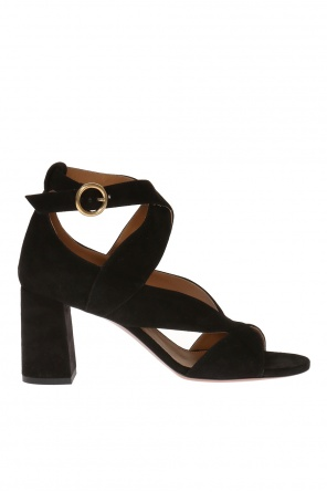 'graphic leaves' heeled sandals od Chloe