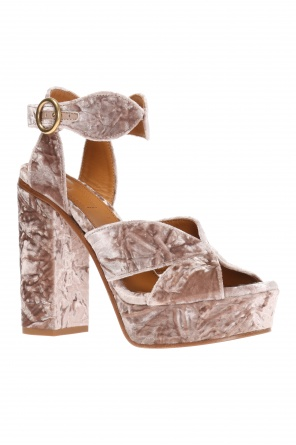 'graphic' platform sandals od Chloe