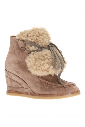 'peggy' wedge ankle boots od Chloe