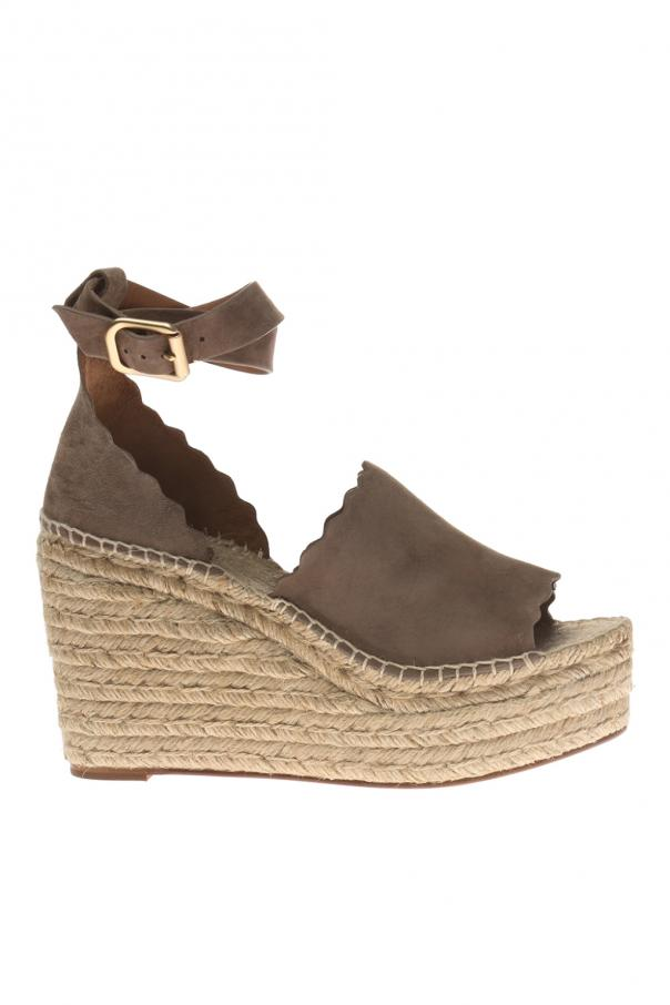 Chloe Woven wedge sandals