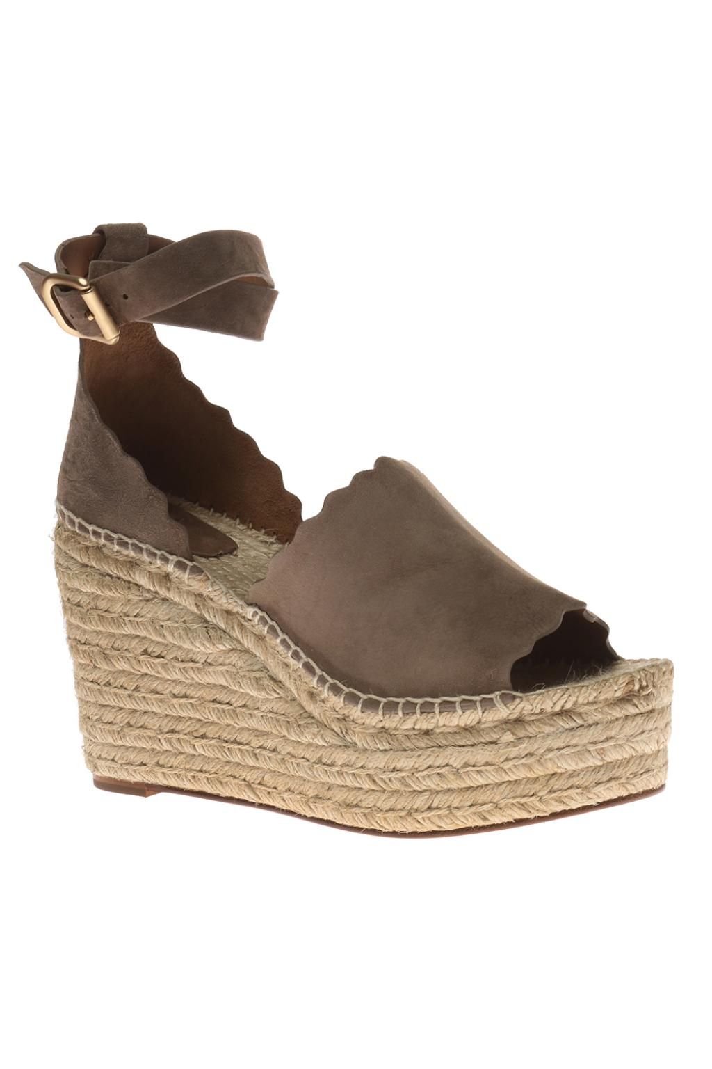 Chloé Woven wedge sandals