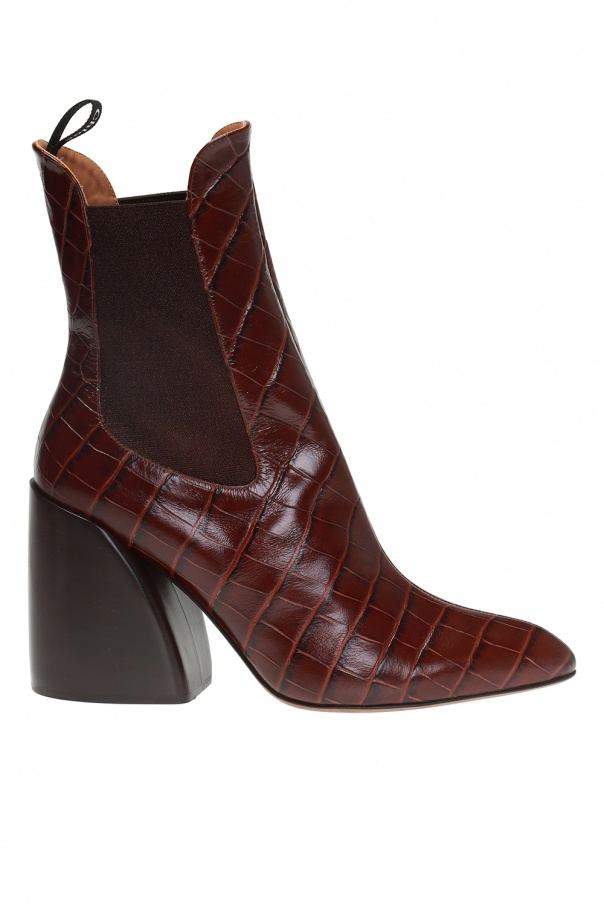 Chloé 'Wave Chelsea' heeled ankle boots