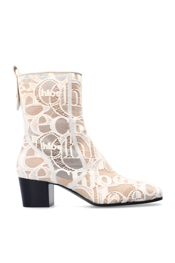 Chloé Heeled ankle boots with logo