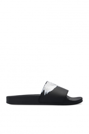 Slides with logo od Marcelo Burlon
