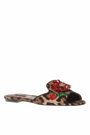 c8f765fa310 Leopard print slides od Dolce   Gabbana ...