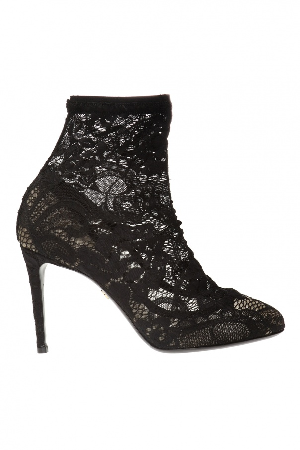 Dolce & Gabbana Heeled ankle boots with a sock