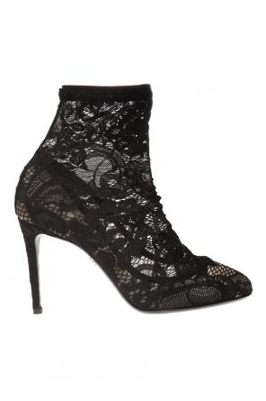 dfa429fa5821a ... Buty na obcasie ze skarpetą za kostkę od Dolce & Gabbana