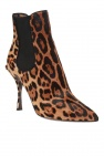 Leopard-printed heeled ankle boots od Dolce & Gabbana