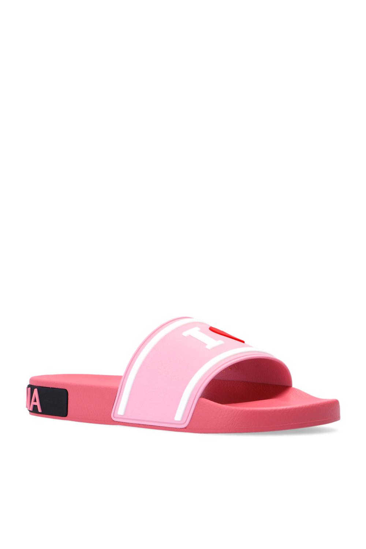 Dolce & Gabbana logo橡胶拖鞋