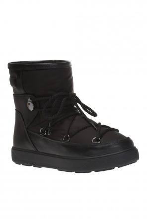 'stephanie' snow boots with metal logo od Moncler