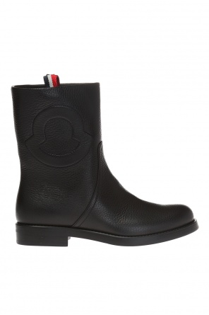 'valentine' leather boots od Moncler