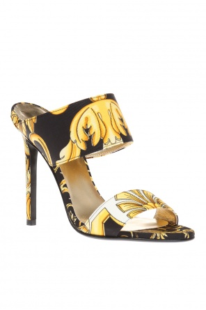 Patterned mules od Versace