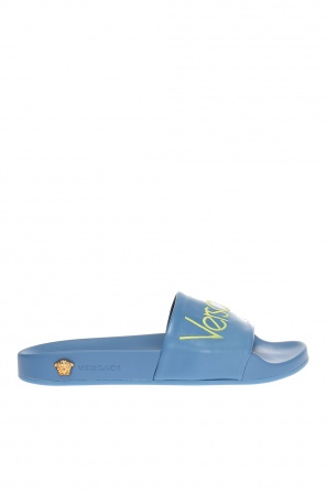 Logo-embroidered slides od Versace