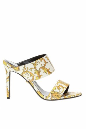 Leather stiletto sandals od Versace