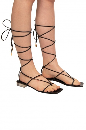 Leather sandals od Versace