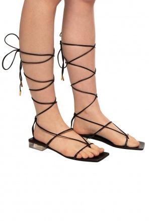 Skórzane sandały od Versace