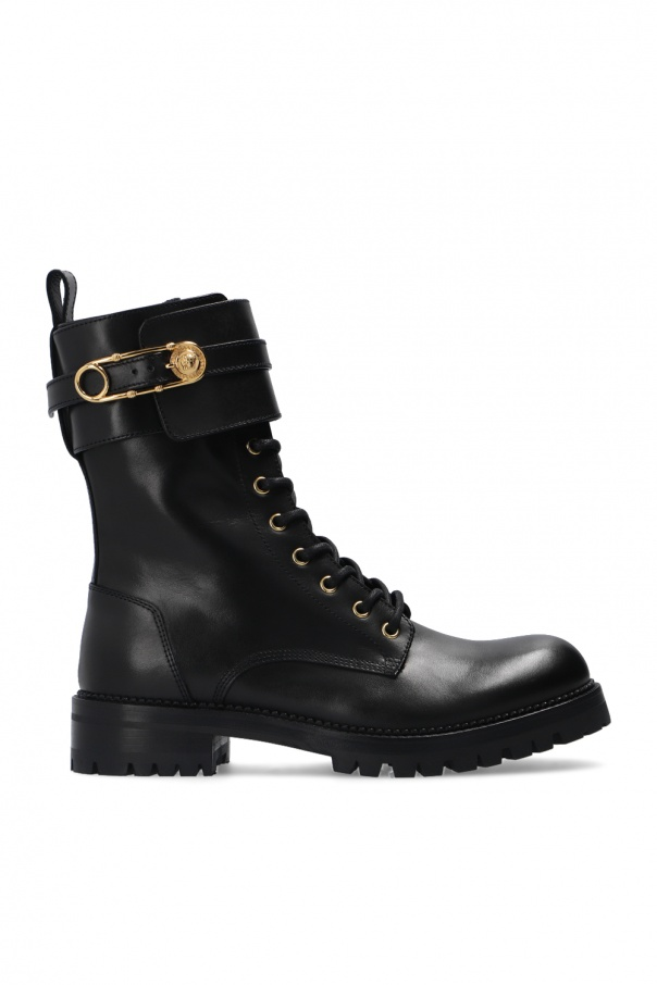 Versace Boots with decorative buckles