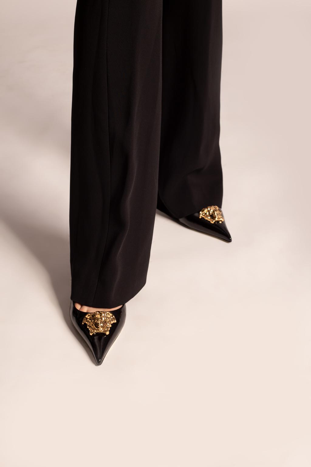Versace Leather stiletto pumps