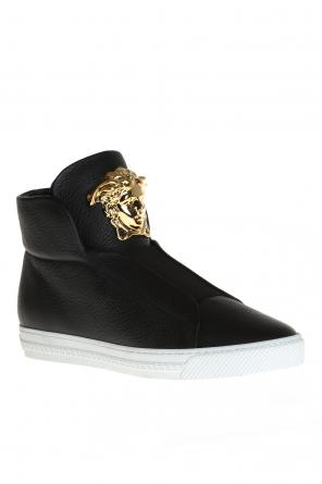 Leather high-top sneakers od Versace