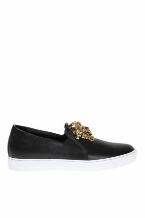 Leather slip-on sneakers od Versace