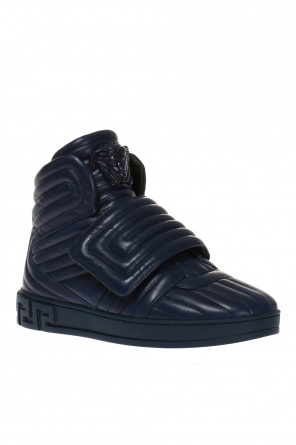 Quilted high-top sneakers od Versace