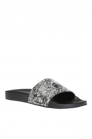 Patterned front slides od Versace