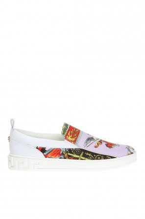 Patterned slip-on sneakers od Versace