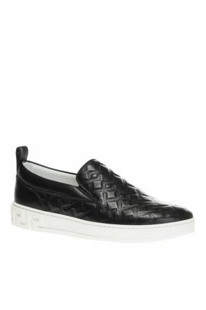 Embossed slip-on sneakers od Versace