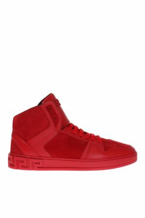Suede high-top sneakers od Versace