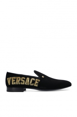 Sequinned loafers od Versace
