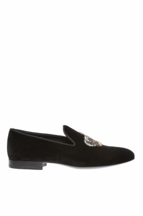 Appliqued loafers od Versace