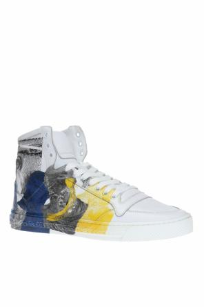 Patterned high-top sneakers od Versace